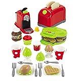 #1118 Spielzeug Toaster, Waffeleisen - Toaster Kinder Waffeleisen Kaffeekanne fr Spielkche Kchenzubehr