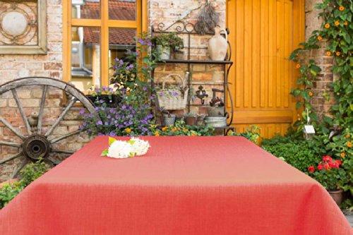 ODERTEX Tischdecken für Küche und Wohnstube mit ACRYL und BLEIBAND abwaschbar, Form und Größe sowie Farbe wählbar, Maße: 110x170 cm Eckig Bordeaux Oslo