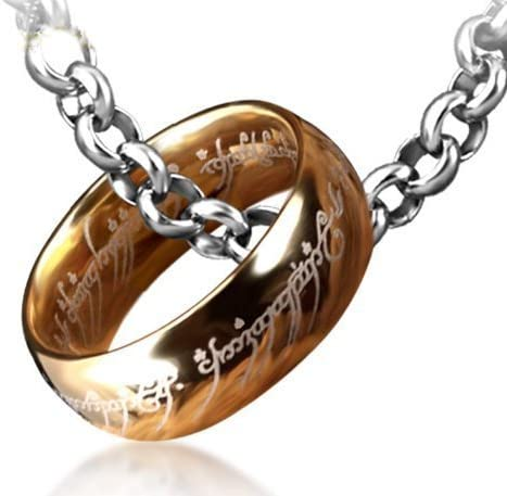 Lord of The Rings One Ring,Titanium Steel Ring with Chain,One Ring Necklace
