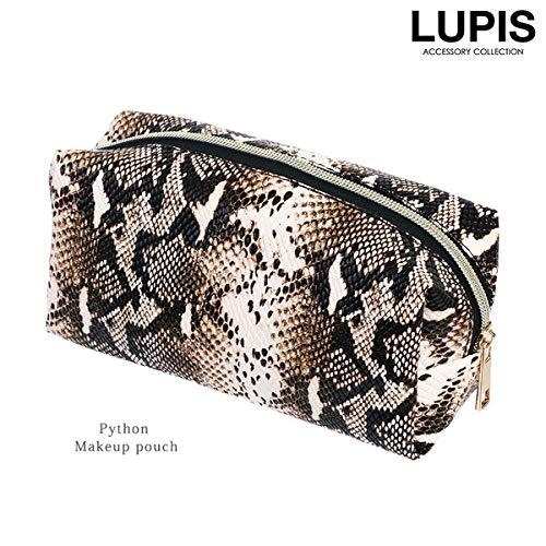 LUPIS『パイソン柄スクエアポーチ』