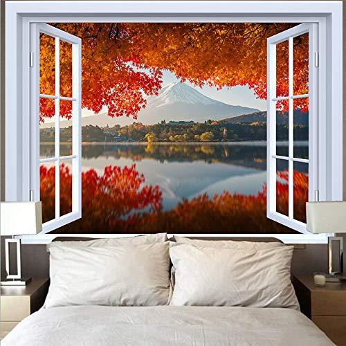 Tapiz de montaña tapiz paisaje lago puesta de sol gran ola tapiz paño de pared decoración del hogar fondo tapiz de tela A1 180x230cm