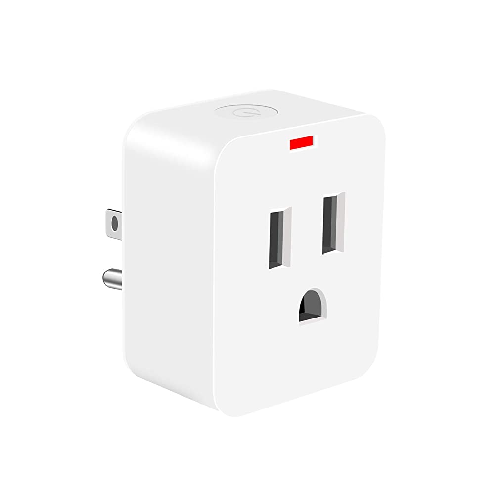 Smart WiFi plug, Poweriver Smart Plug Work with Google Home, Alexa, IFTTT, Smart Electrical Outlet No Hub Required, Remote Control everywhere, Energy Monitor Function