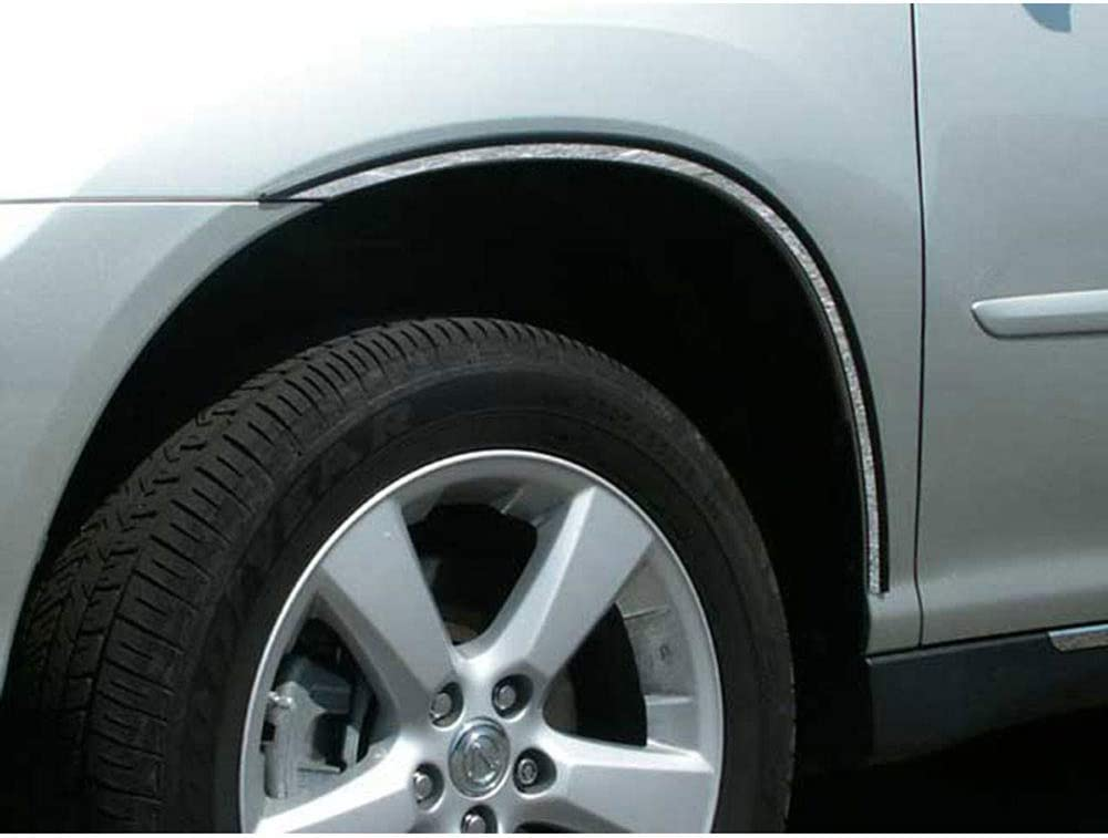 Upgrade Your Auto 4pc. Luxury FX Fender w Steel Max 54% OFF Direct sale of manufacturer 3 Stainless Trim