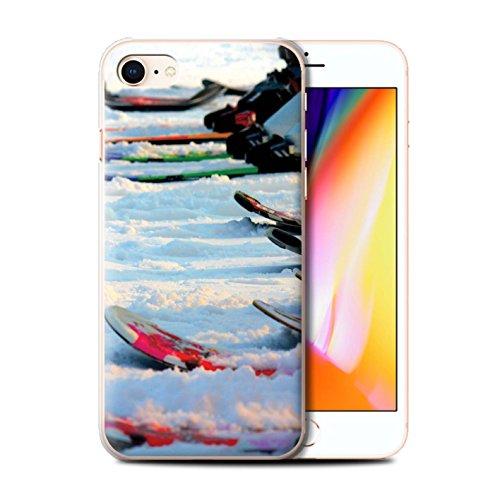 Stuff4® Hülle/Case für Apple iPhone 8 / Wintersport Muster/Skifahren/Snowboard Kollektion