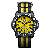 Luminox Navy Seals Mens Watch Scott Cassell Special Edition (XS.3955.Set) - Yellow Display, Compass, Rubber & Nylon Band, 200 M Water Resistant