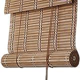 LXLA - Persianas enrollables de bambú, - persianas enrollables de Ventana con tracción Lateral, contraventanas de partición Natural Retro para Interiores/Exteriores, 50% de filtrado de luz