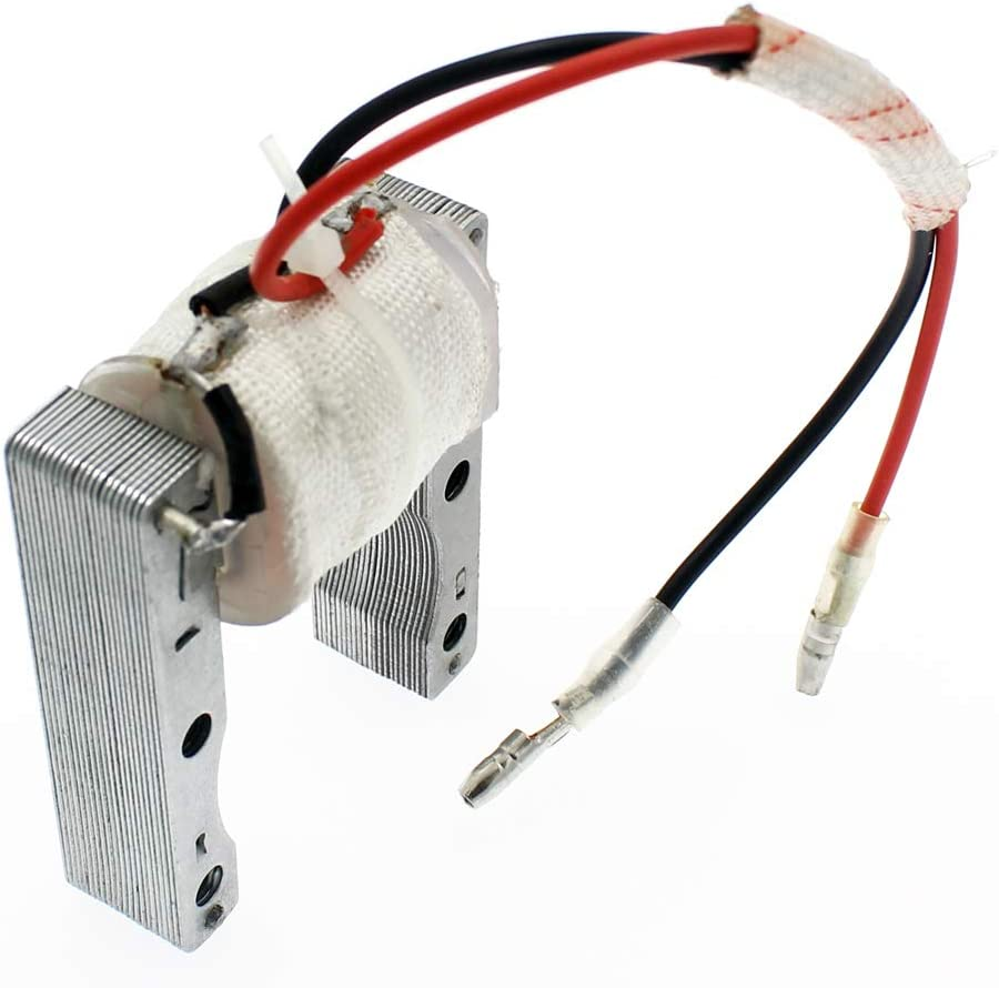 QAZAKY High Performance 2-Wire Magneto Coil for 49cc 50cc 60cc 66cc 80cc 2-stroke Engines Motorized Bicycle Motor Bike ATV Quad Scooter