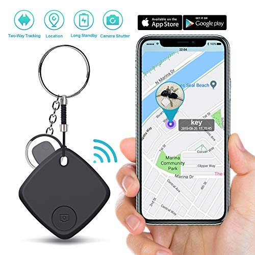 Key Finder Locator - Smart Tracker Bluetooth Finder with App for Phone Keychain Wallet Purse Luggage Suitcase Bag Anti-Lost Alarm GPS Reminder Tracking Device Replaceable Battery Item Finder