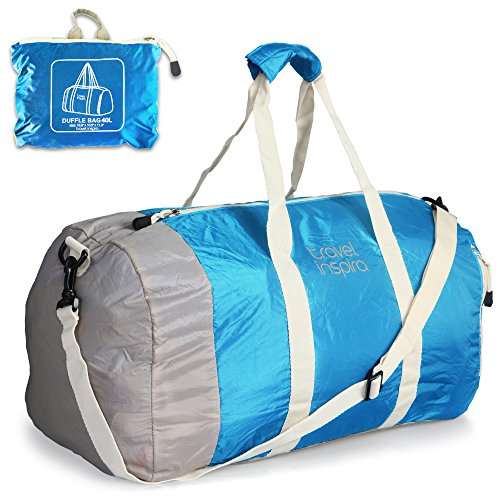 travel inspira Foldable Duffel Travel Duffle Bag Collapsible Packable...