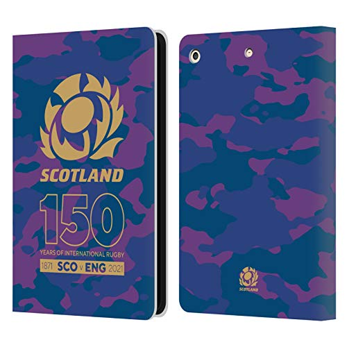 Official Scotland Rugby Camouflage 150th Anniversary Leather Book Wallet Case Cover Compatible For Apple iPad Air (2013)