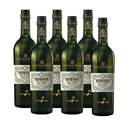 Vermut La Copa Blanco de 75 cl - D.O. Jerez - Bodegas Gonzalez Byass (Pack de 6 botellas)