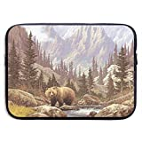 Waterproof Laptop Sleeve 15 Inch, Bears Print Business Briefcase Protective Bag, Computer Case Cover for Ultrabook, MacBook Pro, MacBook Air, Asus, Samsung, Sony, Notebook
