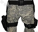 Vivoi 3 pc Drop Leg Gun Holster W/ 3 Magazine Pouches Pistol Pouch Tactical/Airsoft