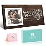 Couples Gifts Picture Frame, Gifts for Him Her Love You Most Romantic...