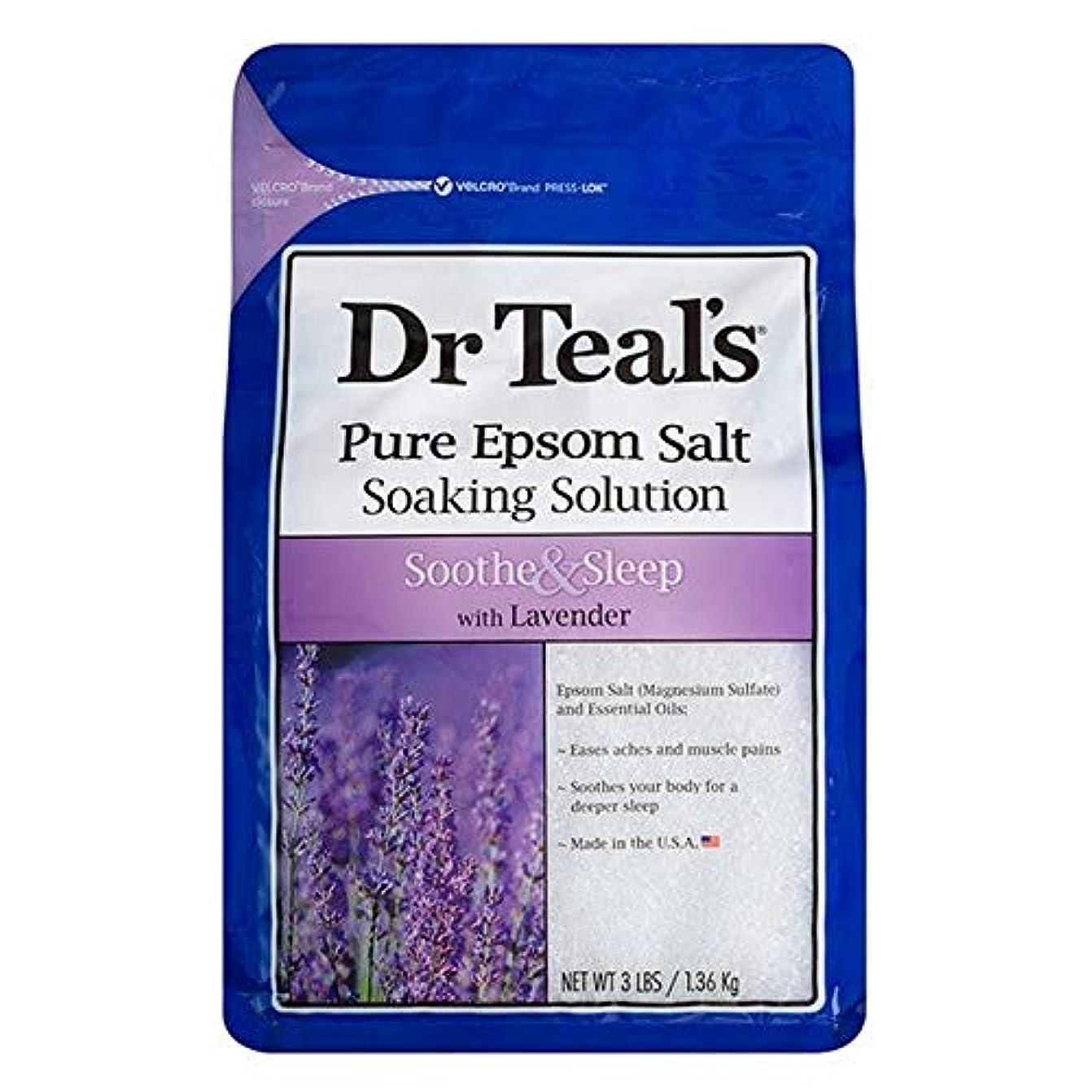 アーサー細心の鰐[Dr Teals] Drのティールのなだめる&睡眠1.36キロ - Dr Teal's Soothe & Sleep 1.36kg [並行輸入品]