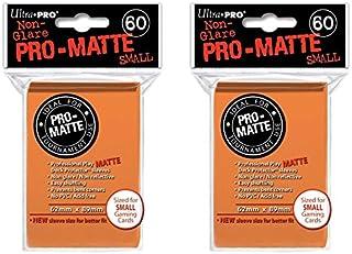 120 Ultra Pro Orange Small PRO-Matte Deck Protectors Sleeves Colors Yugioh Vanguard [2 Packs of 60]