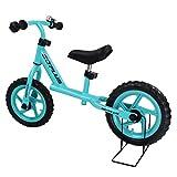 COSTWAY 12 Zoll Laufrad, Balance Fahrrad ab 3 Jahre, Balance Bike aus Stahl, Kinderlaufrad mit Klingel, Lauflernrad 50KG belastbar, Lernlaufrad 88x44x58,5cm (blau)