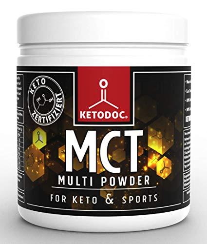 KETODOC - Multi Powder MCT - Fácil digerible para energía disponible rápidamente - Ideal para una dieta cetógena - 250 g (MCT Multi Powder)