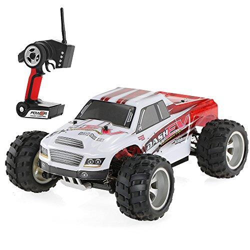 Goolsky WLtoys A979-B 2.4G 1/18 RC Car 4WD 70KM / H ad Alta velocità Elettrico Completo proporzionale Big Foot Truck RC Crawler RTR