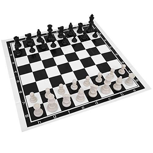 Alomejor International Chess Foldable Chess International Board Game Entertainment Juego de Ajedrez Completo con Tablero Plegable