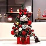 GCP Tavolo Mini Albero di Natale Impostare,Alta Densità Vita-Come Pino Aghi Aghi Affollati Albero Deco per Ufficio Regalo per Bambini Include Ornamenti