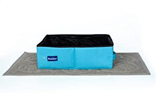 PetLike Cat Travel Litter Box, Collapsible Portable Toilet Tray Carrier for Small Cats