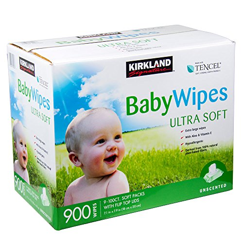 Nueva Kirkland Signature Unscented bebé Toallitas Ultra Suaves toallitas 900(nueva fórmula mejorada de mayo 2015)