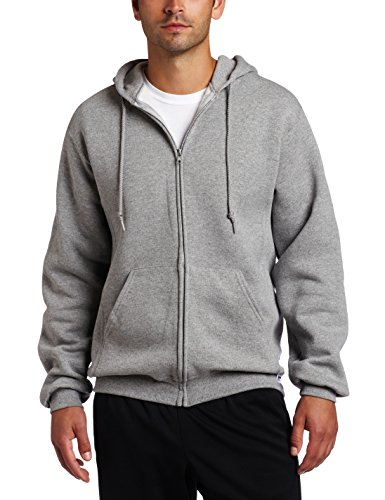 Russell Athletic Men's Dri Power Full Zip Fleece Hoodie, Oxford, Large