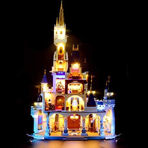 LED-Beleuchtungsset für Lego 71040 Bausteine Modell, Lichtset Kompatibel mit Disney Castle (NICHT im Lieferumfang enthalten Lego)