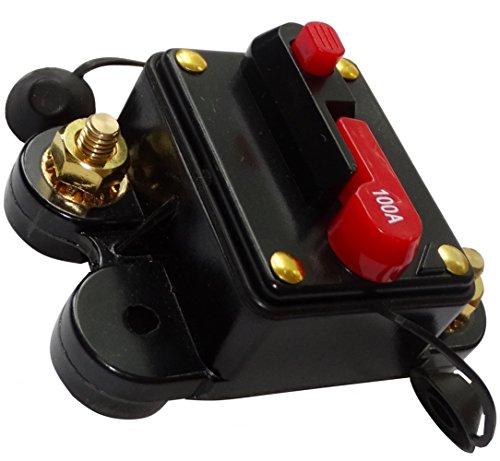 Preisvergleich Produktbild AERZETIX - C14613-100A 12V 24V 32V 48V - Automatische Sicherung - automatik schalter - 78x52x37mm - IP67 amp auto - autoverstärker