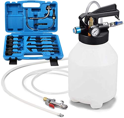 JOMAFA - Bomba neumatica para cambio de aceite sistemas de transmision con 13 adaptadores, 6 litros