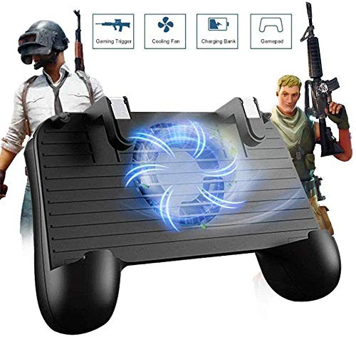 Mobile Game-Controller for 5-in-1-Upgrade Version Gamepad Schießen und Aim Trigger-Phone Cooling Pad-Energien-Bank for Android IOS Fortnite / Messer Out (Mobile Game-Controller,) Bequeme Hand feeli et