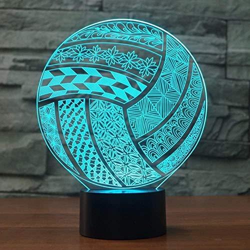 3D Luz de Noche Voleibol LED 3D Luz de Noche Deporte Lámpara de Escritorio Dormitorio de Luz Remota 7 Cambio de Color Interior de la Atmósfera de la Lámpara de Regalo del Niño