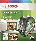 Laser lignes Bosch - UniversalLevel 3 (portée 10m, 3 lignes 1 point, mise à niveau...