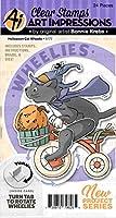 Art Impressions Wheelies Stamp & Die Set-Halloween Cat