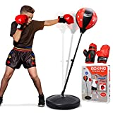 TOY Life Punching Bag with Boxing Gloves, Boxing Bag for Kids, Boxing Toy with...