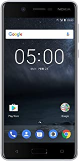 "Nokia 5 - Android 9.0 Pie - 16 GB - Single Sim Unlocked Smartphone (AT&T/T-Mobile/Metropcs/Cricket/Mint) - 5.2"" Screen - Silver"