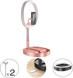 HULYZLB LED Ring Light18//48CM Dimmable LED Ring Light with Stand Camera Photo Video Lightning Kit 5500K Beauty Light for YouTube