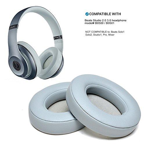 WADEO Beats Studio Ohrpolster Grau Wireless 2 3 B0500 B0501 Ohrpolster Ohrmuscheln