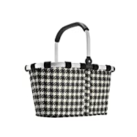 reisenthel Carry Bag Collapsible Bag or Market Basket Fifties (Houndstooth) Pattern