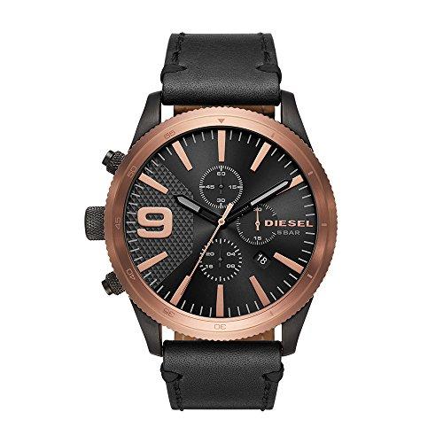 Diesel Herren Chronograph Quarz Uhr mit Leder Armband DZ4445