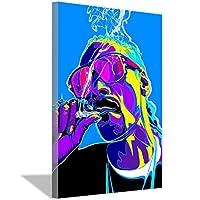 スヌープドッグ喫煙水彩油絵キャンバス絵画アートポスター寝室の装飾リビングルーム壁画キャンバス壁アート60x90cm(24x36inch)フレームなし