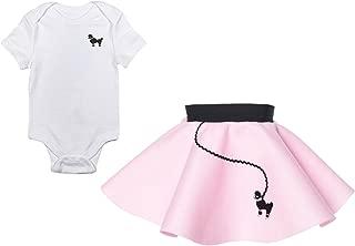 Hip Hop 50s Shop Infant Poodle Skirt 2 Piece Costume Set