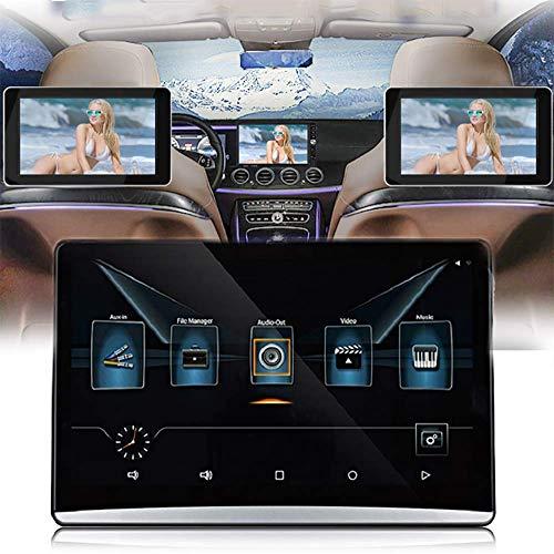 QJJML 12,5-Zoll-Video-Player Auto KopfstüTze HD-Display,1080P LCD-TouchscreenUnterstüTzt Android 9.0-System, Bluetooth/WLAN-Internetzugang, 16G Speicherplatz FüR Reisen Im Freien