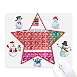 Cute Succinct Color Chemistry Periodic Table mas Snowman Family Star Mouse Pad