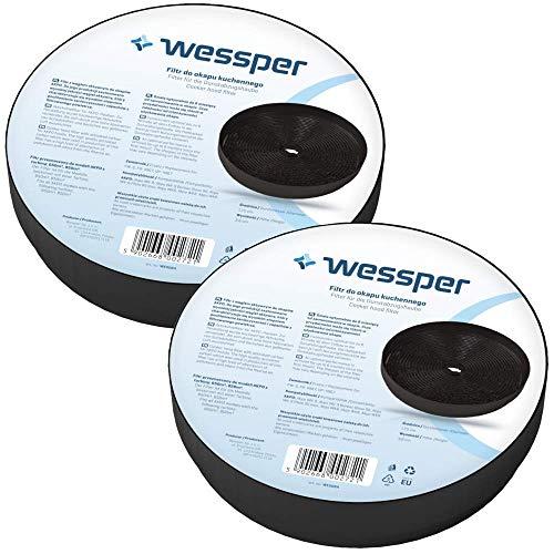 Wessper 2x Aktivkohlefilter für AKPO 650 850 - passend für die Dunstabzugshauben-Modelle WK-6, WK-8, WK-9
