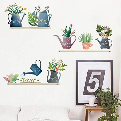 YQTYGB Pegatinas de Pared para Sala de Estar decoración de la Cama Tatuajes en casa DIY Arte Mural Vinilos Adhesivas Pared.Esporador De Agua Azul
