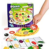 Preschool Toys, Preschool Games, Montessori Toddler Board Games for 3 Year olds, Crafts for Kids Ages 3-5, Speech Therapy Materials, Sensory Toys for Autistic Children (Pizza Game)