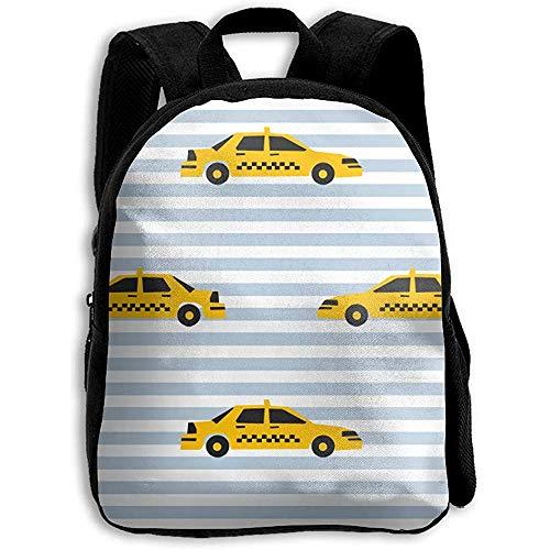 Schulrucksack Taxi Yellow Cab New York City Tourist Reise Streifen Jungen Casual Daypack Kinder Rucksack Umhängetasche Schule Bookbag Print Mädchen