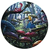 A-lice in Wonderland Carpet Non-Slip Mat Round Area Rug Bath Mat Indoor and Outdoor Decoration Provides Protection and Cushion for Area Rugs and Floors